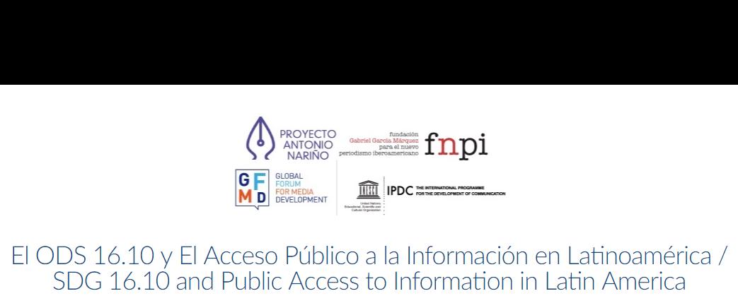 Organizações realizam webinar sobre acesso à informação na América Latina