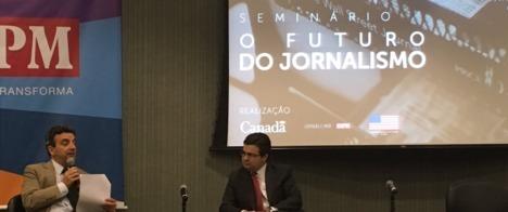 Jornalistas e especialistas discutem tendências do jornalismo em seminário da Abraji