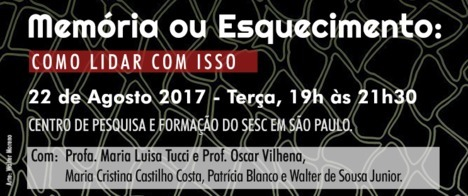 Centro de Pesquisa e Formação do Sesc São Paulo recebe debate sobre direito ao esquecimento