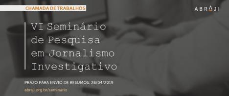 Seminário de Pesquisa em Jornalismo Investigativo abre chamada para envio de artigos