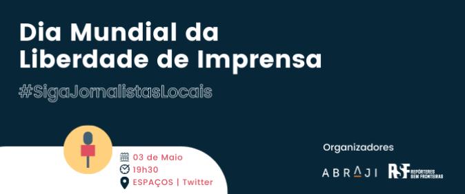 Abraji e RSF realizam evento sobre jornalismo local no Twitter