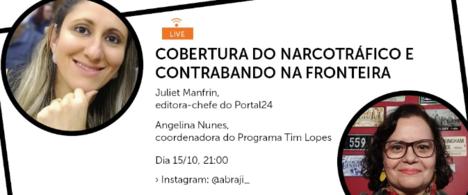 Juliet Manfrin, jornalista do Paraná, é a convidada da live da Abraji
