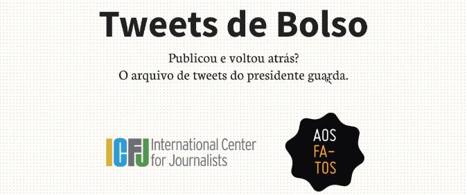 Aos Fatos cria arquivo com postagens de Jair Bolsonaro no Twitter