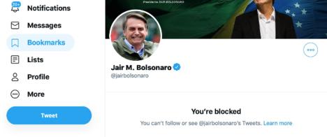 Conta de Bolsonaro no Twitter bloqueou site especializado em checagens de notícia