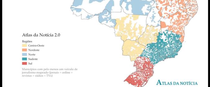 30 milhões de pessoas vivem em desertos de notícia, mostra Atlas da Notícia 2.0