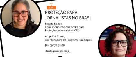 Live do Programa Tim Lopes recebe correspondente do Comitê para Proteção de Jornalistas