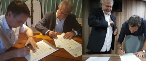 Fernando Haddad e Jair Bolsonaro assinam compromisso de garantir liberdade de expressão