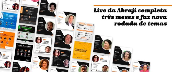 Entrevistas no Instagram da Abraji já reuniram 17 profissionais de imprensa