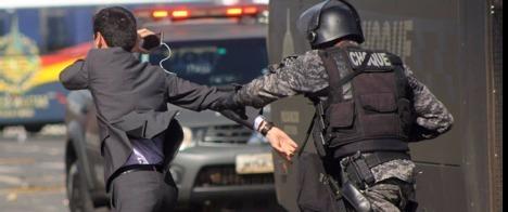 Sete jornalistas são agredidos em protesto em Brasília