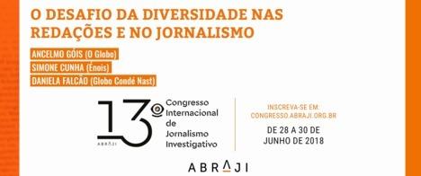 13o Congresso vai debater o valor da diversidade para o jornalismo