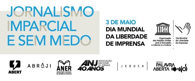 Unesco, Abraji e parceiros promovem ações pelo Dia Mundial da Liberdade de Imprensa