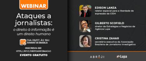 Webinar discute ataques a jornalistas com Comissão Interamericana de Direitos Humanos